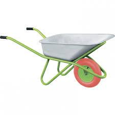 Тачка садово-строительная с PU колесом, грузоподъемность 180 ...