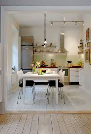 dining table interior design kitchen:  luxury ideas for interior design small apartment creative rectangular white wooden dining table in interior