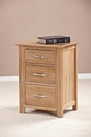 Cheap Devon Oak <b>Tall Bedside Cabinet</b> With Drawers - Affordable ...