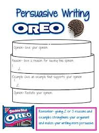 ideas about persuasive writing examples on pinterest  this is a great visual to teach opinion writing i think i am going to use it with the prompt what is the best way to eat an oreo cookie