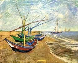 Описание картины Винсента Ван Гога «<b>Лодки</b> в Сен-Мари»