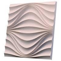 <b>Дизайнерская 3D панель из</b> гипса Artgypspanel Круговая волна ...