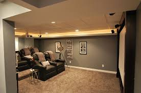 elegant basement home theater keeps things simple design plan 2 finish basement lighting layout