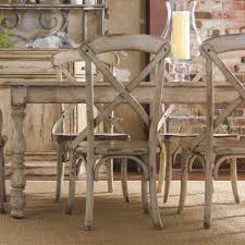 Distressed Dining Room Chairs Hamilton Home Wakefield Rectangular Leg Dining Table With Two Tone