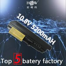 HSW <b>5200mAh 6 cells</b> new rechargeable <b>laptop Battery</b> For IBM ...