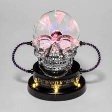 Animated <b>LED</b> Skull Plasma Ball <b>Halloween Decorative</b> Prop - Hyde ...