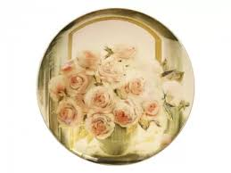 Блюдо <b>декоративное</b> 450 форма Круглая рисунок <b>Розы</b> арт ...