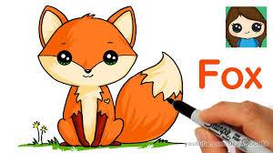 How to Draw a <b>Cute</b> Fox Easy - YouTube