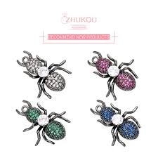 ZHUKOU 18x22mm sparkling crystal <b>insect</b> pendant for <b>necklace</b> ...