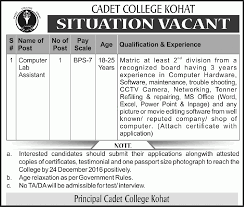 computer jobs in cadet college kohat 8 2016 online jobs computer jobs in cadet college kohat 8 2016