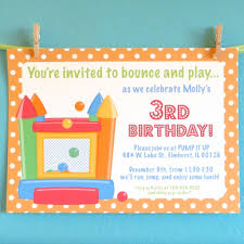 bounce party invitations invitation card gallery bounce party invitations bouncy house invitations kids birthday party greencard on
