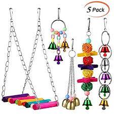 LANSONTECH <b>5 Pcs Pet Bird</b> Parrot Cage Toy, Parakeet Bird Toys ...