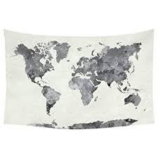 Buy JUSTDOLIFE <b>Wall</b> Tapestry <b>Simple World Map</b> Pattern <b>Wall</b> ...