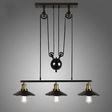 vintage pulley pendant loft ceiling light hanging lamp artistic lighting fixture artistic lighting fixtures