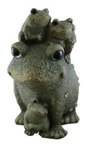 frog family garden statue outdoor lawn decor