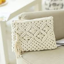 <b>Women's Bohemian Style</b> Straw Woven Day Clutches Bags ...