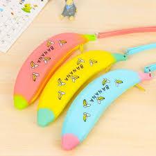Jonvon Satone 1pcs Kawaii Simple <b>Creative Banana Pencils Bag</b> ...