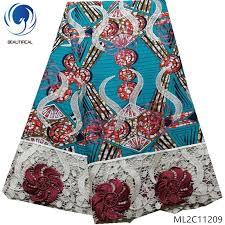 <b>BEAUTIFICAL</b> Wax Prints 100% Polyester Fabrics With <b>Lace</b> Cord ...