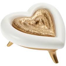 <b>Шкатулка</b> «<b>Сердце</b>», <b>бело</b>-<b>золотая</b>