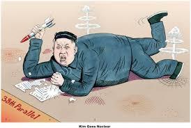 Kim Goes Nuclear Cartoons via Relatably.com