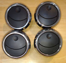 ford car and truck dash parts 2005 09 ford mustang ac dash vents black and chrome set of four 4