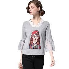 BURDULLY Fashion Cotton Embroidery <b>T shirt Women Summer</b> ...