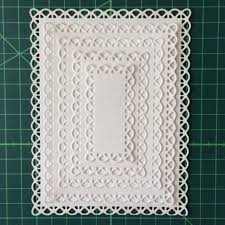 Swovo Stitched <b>rectangle frame Metal Cutting</b> Dies and Clear ...