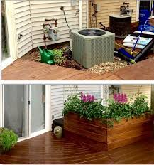 17 best ideas about electric box laundry room ac unit cover up large planter stained walnut semi transparent use the screen the electrical box in backyard