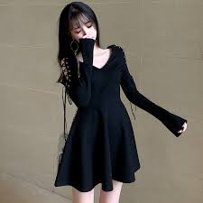 Darkness <b>Sexy Black</b> Women <b>Dress</b> Harajuku <b>Gothic</b> Lace Up Long ...