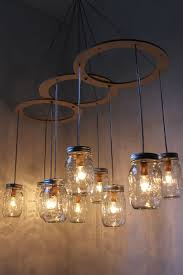 mason jar chandelier mason jar light canopy style by bootsngus betty 8 light mason jar