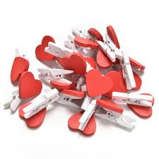 <b>20pcs</b>/<b>Pack</b> Mini Heart Love <b>Wooden</b> Clothes Photo Paper Peg Pin ...