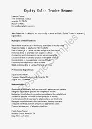sales and trading resume resume samples equity sales trader resume equity trader resume