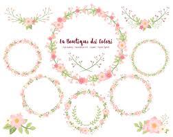 clip art drop dining pink flower wreath clipart cute scrapbook png laurel wedding invitatio
