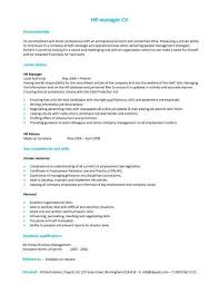 a hr manager cv template with a simple but eye catching design sample of basic resume