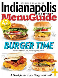 """Indianapolis Monthly """"<b>Burger</b> Time"""" Menu Guide 