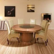 dining table that seats 10: cm d seats   large round walnut dining table black