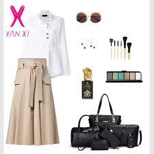 <b>YANXI</b> Vintage 6 Pieces <b>Bag</b> Set Knitting <b>Handbag Women</b> Top ...