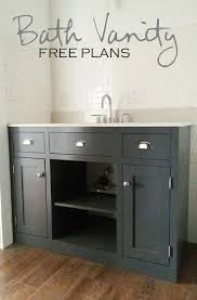 ana white build a simple gray bath vanity free and easy diy project and bathroomcute diy office homemade desk plans furniture