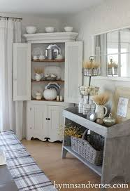 corner cabinets dining room: hymns and verses country farmhouse cabinet and rustic fall vignette