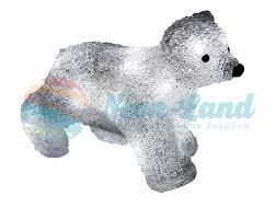 Акриловая <b>светодиодная фигура</b> Медвежонок 24х11х18 см, 4,5 В ...