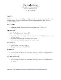 breakupus unusual samples of good resumes with outstanding high school resume no experience besides resumes for highschool students furthermore how to do a good resume examples for high school students
