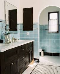 cabinet combination with white ceramic beautiful interior ideas for narrow bathroom with light blue tile wall ceramic and vintage dark cherry bathroom vanity lighting ideas combined