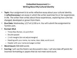 making an outline a plan that builds an essay introduction what is    embedded assessment — writing about my cultural identity topic  your assignment is to write