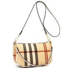 Checkered <b>Crossbody Bag for</b> Women <b>Luxury Designer</b> Moon ...