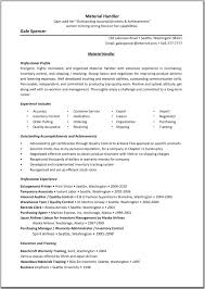 material handler resume template great resume templates click on image to enlarge