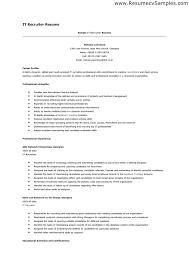 resume template  recruiter resume templates objective for    resume template sample   it recruiter abc network enterprises experience