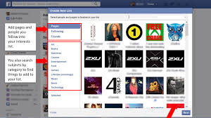 how to make an interests lists on facebook how to make an interests lists on facebook