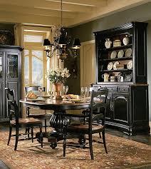 indigo creek black round pedestal dining room table set black painted furniture ideas