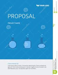project template cover page stock illustration image 56915310 project template cover page