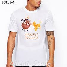 <b>watercolor Hakuna Matata letter</b> print t shirt camisetas hombre funny ...